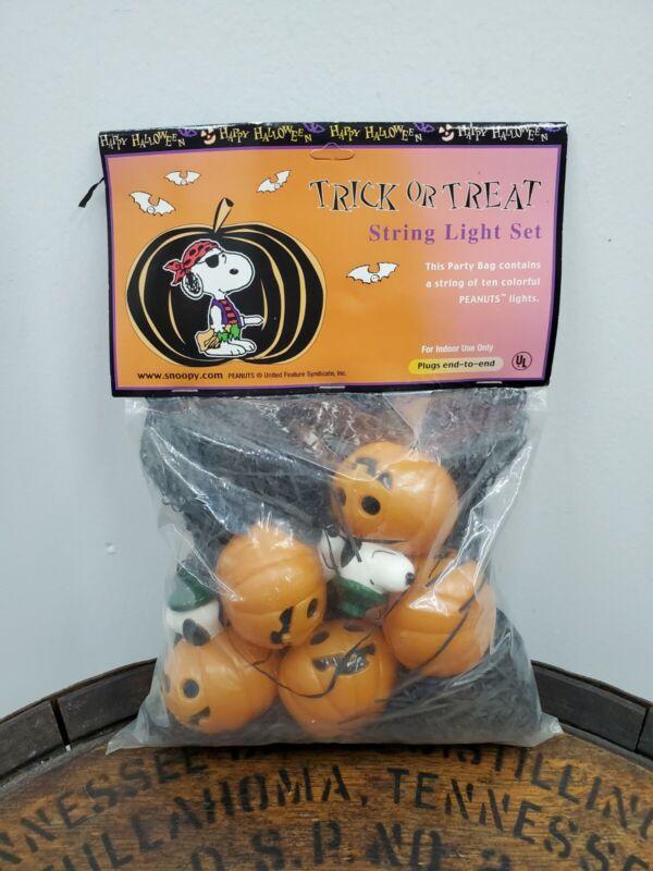 Peanuts Halloween Snoopy Pumpkin String Light Set UFS Inc. New (I)