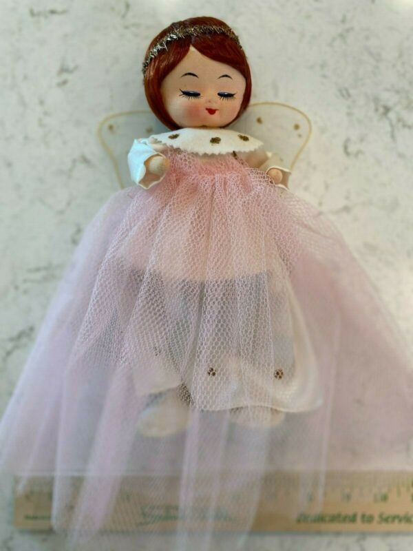 VTG MCM Pink angel Christmas tree topper. Great condition.