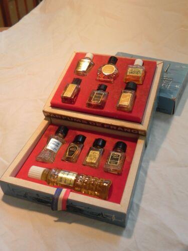 Parfums De France Miniature Collection 11 Bottles Perfume France in Box Vtg