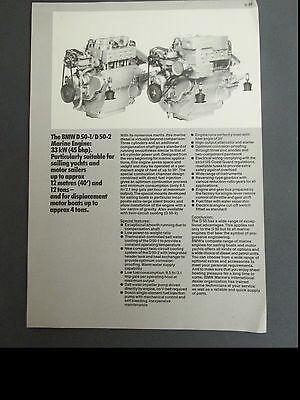 Vintage 1982 BMW MARINE ENGINE FLYER D50-1 D50-2 motor boats sailing yachts