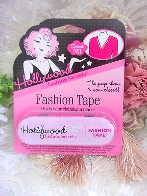 NEW SEALED Hollywood Fashion Tape - 36 clear Double Stick Strips