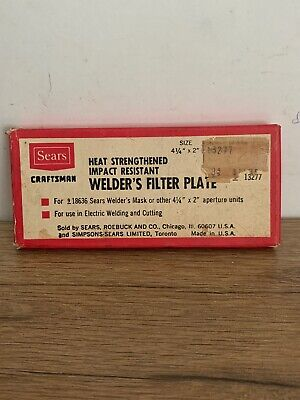 Vintage Seats Craftsman Heat Strengthened Impact Welders Filter Plate