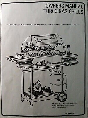 Turco Barbecue Propane Lp Gas Grill Owners Manual