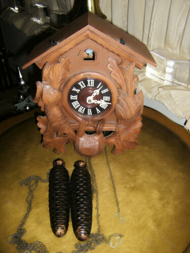 VINTAGE REGULA MECHANICAL CUCKOO CLOCK MADE IN GERMANY COLLECTABLE BEAUTIFUL
