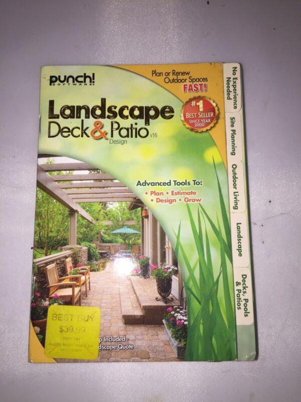 Punch Landscape Deck & Patio Design New