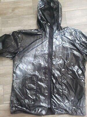 NWT 99%is custom handmade(custom sprayed) black raincoat