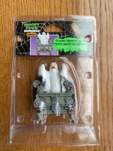 *NEW* Lemax Spooky Town #72378 Glowing Haunted Crypt Accessory Figure! L@@K