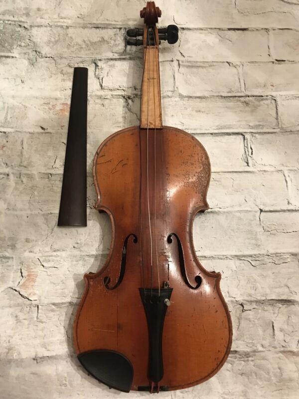 Antique Violin Joseph Guarnerius Fecit Cremonae Anno 1700 IHS Restore Or Parts
