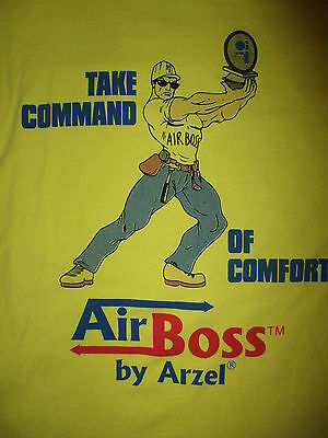 AIRBOSS ARZEL T SHIRT Buff Muscle Construction Guy HVAC Zoning Technology XL