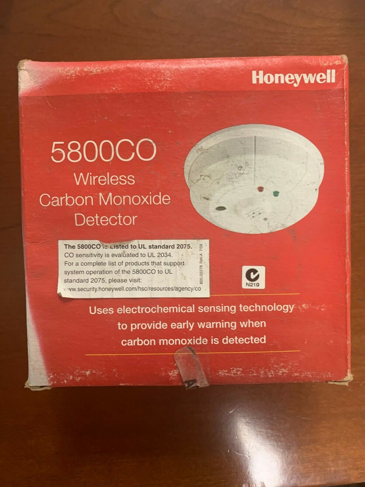 Brand New Honeywell 5800CO Wireless Carbon Monoxide Detector