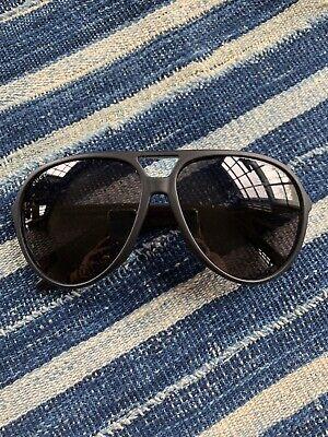 Gucci Matte Black Platic Aviator Sunglasses