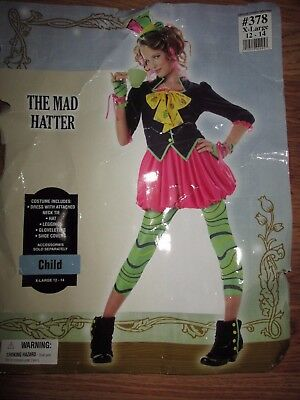 Girls THE MAD HATTER Alice in Wonderland Halloween Costume XL 12 - 14](Mad Hatter Halloween Costume For Girls)