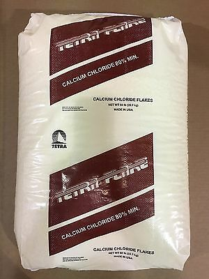 Calcium Chloride Cacl2 2h2o Tetra Flakes 99 Pure Min. 50lb Bag