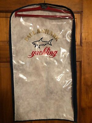 PAUL SHARK YACHTING Garment Bag Clothing Protector Plastic Front with Hanger