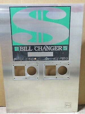 Rowe Bc-2800 Dollar Bill Changer Faceplate Bezel Stainless Steel Cover 65064203