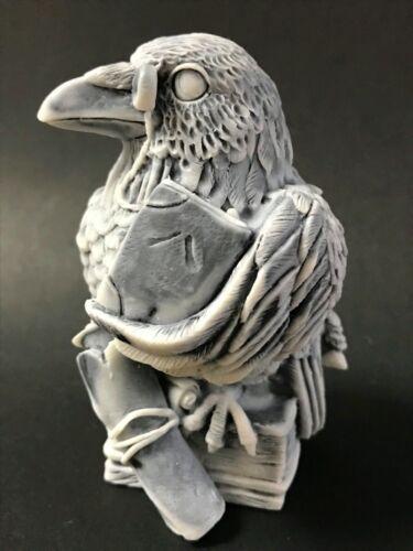 Raven bird figurine miniature marble chips high quality