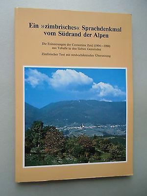 Ein zimbrisches Sprachdenkmal vom Südrand der Alpen 1986 Bd. 8 Südtirol
