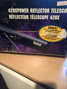 Bushnell 420x reflector telescope used