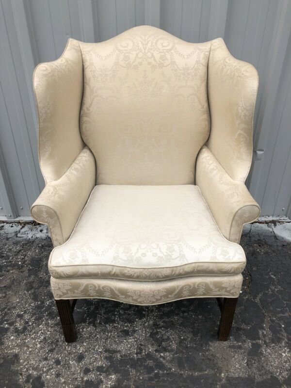 "Hickory Chair Mahogany Wing Chair For Reupholstery 45"" X 31"" X 32"""
