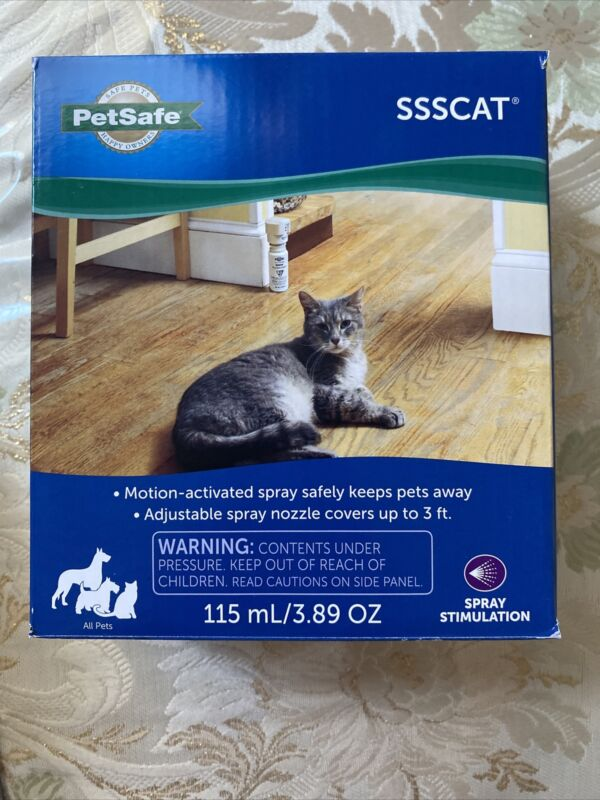 petsafe ssscat spray deterrent / Motion activated spray safely keeps pets away !