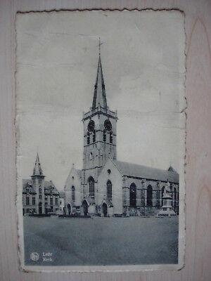 PK / CP Lede : Sint-Martinuskerk, Markt, Gemeentehuis, Gedenkmonument