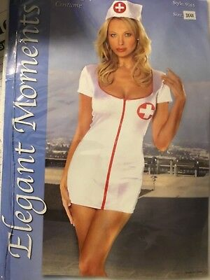Sexy!  Naughty Nurse Sleeve Outfit Costume Nurses Hat 9165 3X/4x