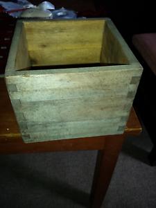 Small Wooden  Solid  Crate. (Box) 17cmx17cm. Loganlea Logan Area Preview