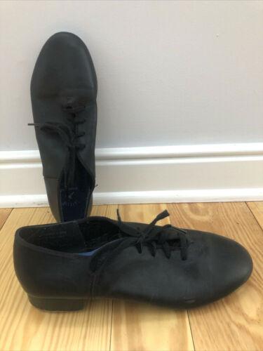 Nice Capezio 8 M Black Leather Lace Up TeleTone Tap Shoes