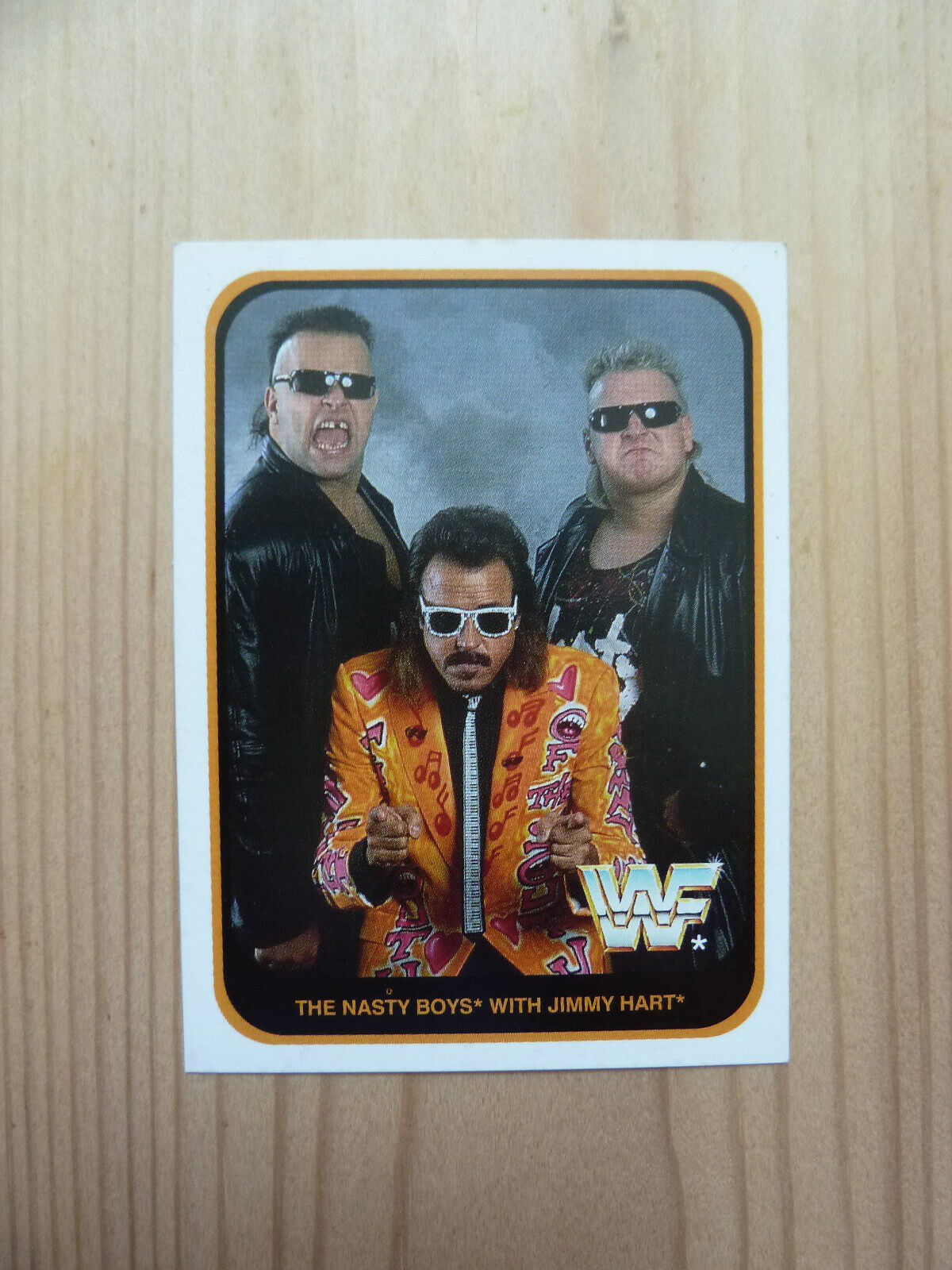 THE NASTY BOYS WITH JIMMY HART - WWF Wrestling Sammelkarte Nr. 6 (Merlin 1991)