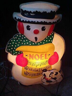 VINTAGE NOMA PLASTIC CHRISTMAS NOEL SNOWMAN DOG WALL TABLE DECORATION LIGHT LAMP