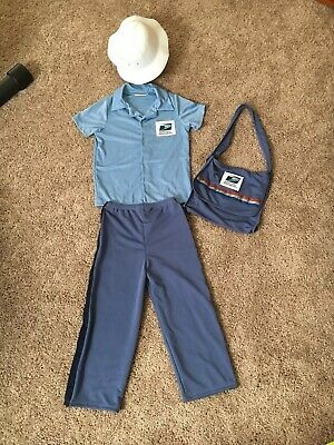 Kids Mailman Costume (USPS Kids Halloween Costume, Mailman, Mailwoman, Unisex, Community Helper,)