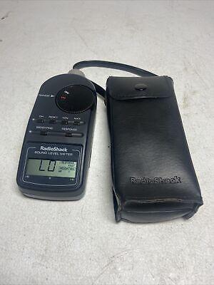 Radio Shack Digital Sound Level Meter Tester Decibel Reader Case 33-2055. 1