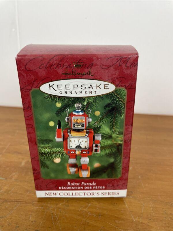 Hallmark Keepsake ROBOT PARADE Tin Ornament 2000 New In Box