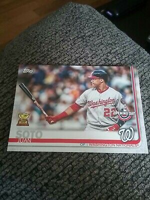 2019 Topps Opening Day Juan Soto #128 Rookie Cup Washington Nationals
