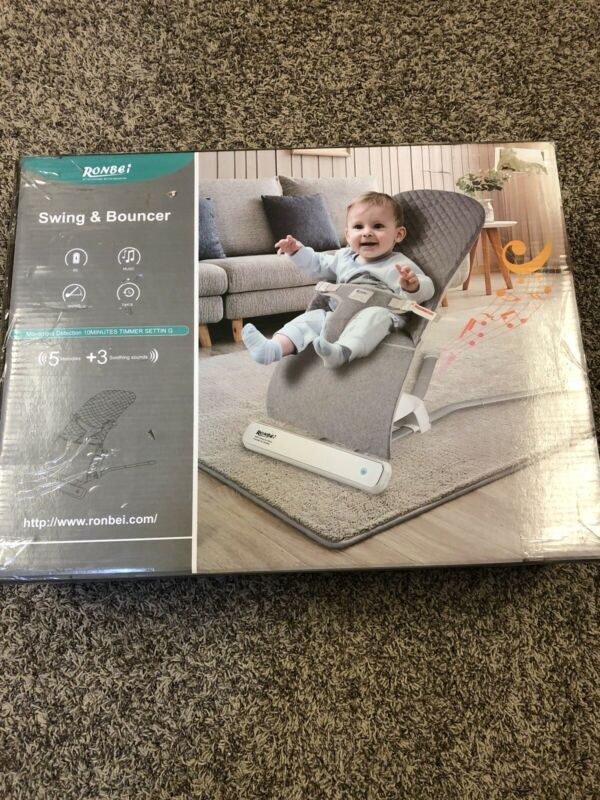 RONBEI Infant Swing and Bouncer 5 Melodies/3 soothing sounds SHIPS FROM THE US