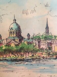 Historic Kingston 1973 watercolour schonberger listed local