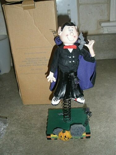"Avon Halloween Standee Figurine Dracula 9"" Tall in Box"