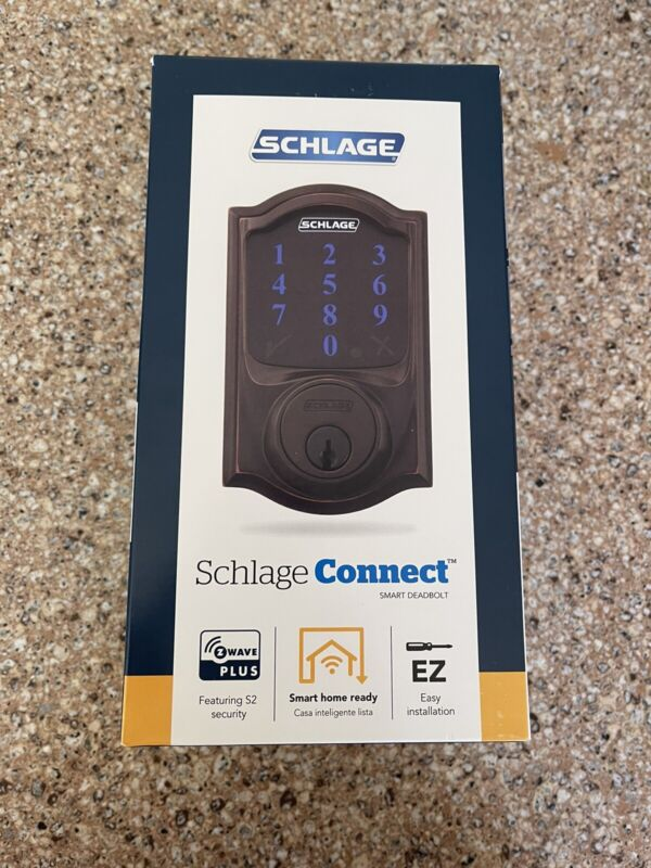 Schlage Connect Smart Deadbolt - Aged Bronze Camelot - BRAND NEW Factory Sealed!
