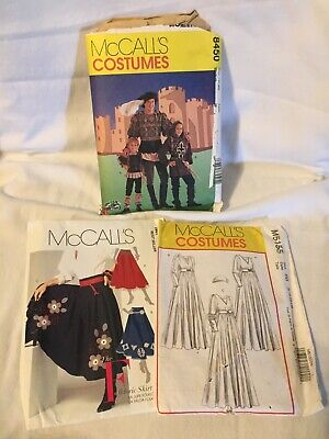 Renaissance Clothing Patterns (McCalls Costume Patterns Renaissance style clothing Men's and Women's -Lot of)
