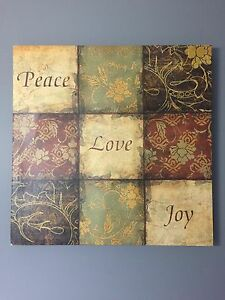 Wall art peace love joy