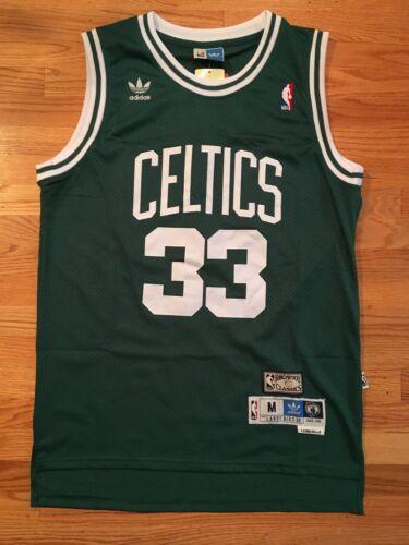Larry Bird #33 Throwback Boston Celtics Green Mens Jersey
