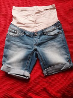 Maternity denim shorts size 8 Sandringham Bayside Area Preview