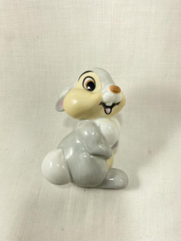 """Vtg Schmid Walt Disney Thumper Plug In Nightlight Night Light 4"""" Bambi Ceramic"""