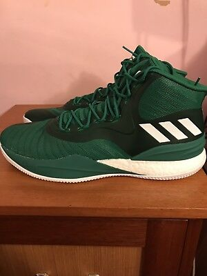 794198339 ADIDAS D ROSE 8 - SIZE 17 - GREEN WHITE DERRICK BASKETBALL CQ0824 Men s  Sneakers