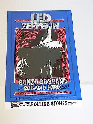 BG199 LED ZEPPELIN ROLLING STONES CONCERT POSTER by RANDY TUTEN