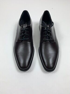 Calvin Klein Ramses Men's Leather Embossed Oxford Shoes Dark Brown Size 10.5 M