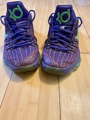 Nike KD 8 Suit GS Boys Girls Youth Basketball Shoes Size 5Y Purple Volt