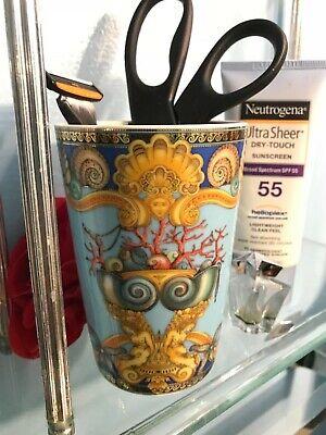 VERSACE LA MER BATH CUP HOLDER MULTIPURPOSE VASE New