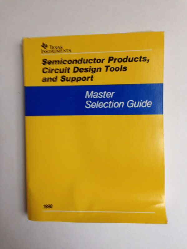 Texas Instruments, Master Selection Guide, Vintage 1990,Products, tools, Support