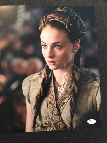 Game of Thrones Sophie Turner Autographed Signed 11x14 Photo JSA COA #6